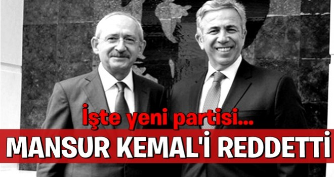 Mansur Yavaş CHP'nin teklifini reddetti
