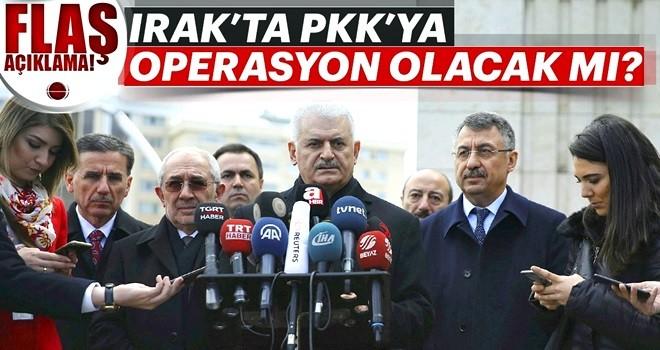 Başbakan Binali Yıldırım açıkladı: Irak'ta PKK'ya operasyon olacak mı?