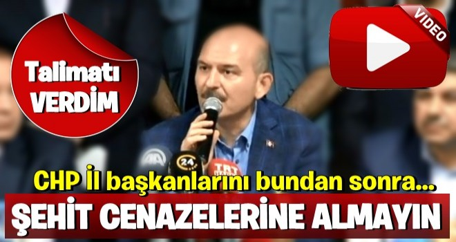 Süleyman Soylu'dan valilere CHP talimatı!