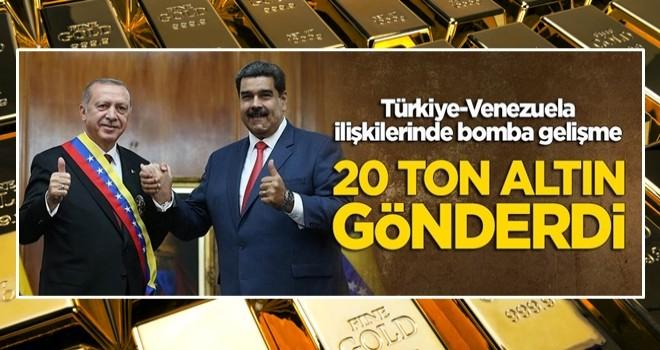 Venezuela, Türkiye'ye 20 ton altın gönderdi