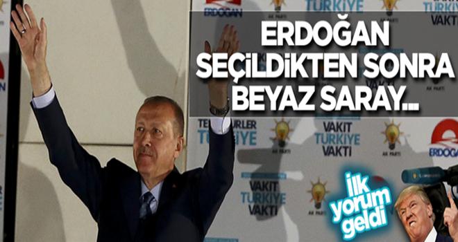 Erdoğan'ın seçilmesiyle ilgili Beyaz Saray'dan ilk yorum
