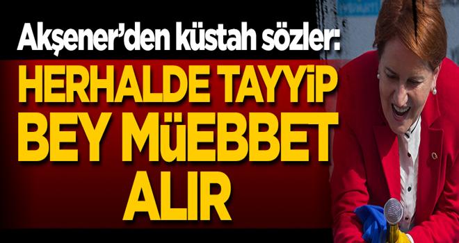 Akşener'den küstah sözler! 'Herhalde Tayyip bey müebbet alır'