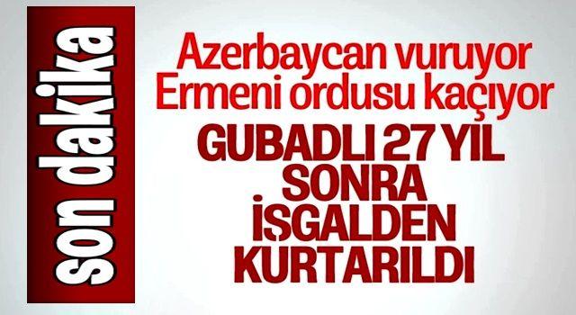 Azerbaycan, Gubadlı kent merkezini işgalden kurtardı