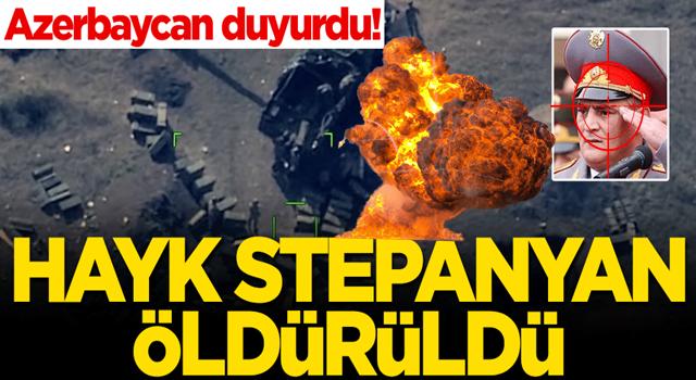Azerbaycan Savunma Bakanlığı açıkladı! Ermeni binbaşı Hayk Stepanyan öldürüldü