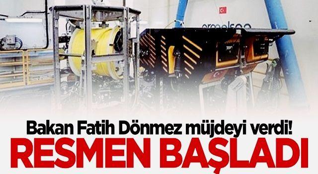 """Bakan Fatih Dönmez müjdeyi verdi: """"Kaşif"""" göreve başladı"""