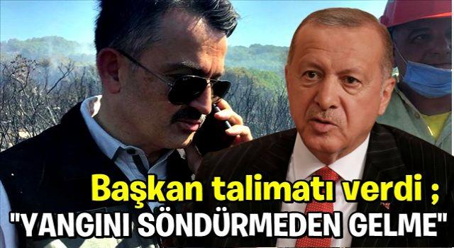 Bakan Pakdemirli, Erdoğan ile arasında geçen konuşmayı anlattı: Yangını söndürmeden gelme