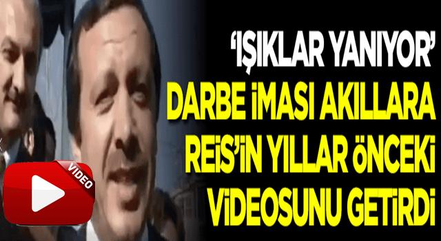 'Işıklar yanıyor' tweeti akıllara Erdoğan'ın yıllar önceki videosunu getirdi