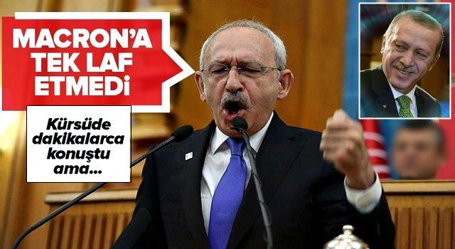 Kemal Kılıçdaroğlu İslam'ı hedef alan Macron'a tek laf etmedi! .