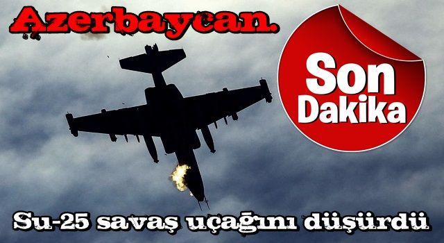 Son dakika: Azerbaycan'dan Ermenistan'a bir darbe daha! Su-25 savaş uçağını düşürdü .