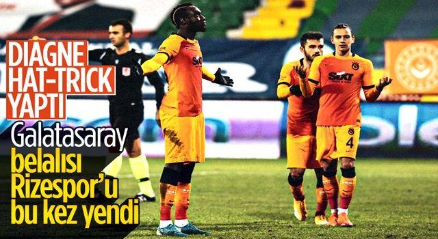 Diagne hat-trick yaptı Galatasaray, Rizespor'u farklı yendi