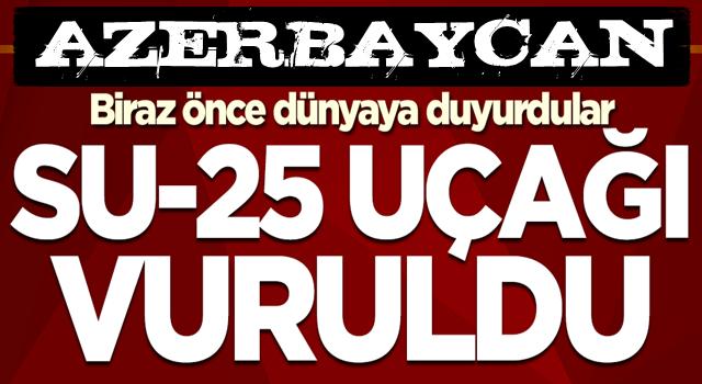 Son dakika: Azerbaycan'dan Ermenistan'a bir darbe daha: Savaş uçakları düşürüldü .