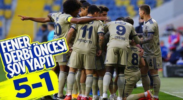 Fenerbahçe, Gençlerbirliği karşısında 5 golle şov yaptı