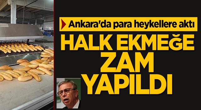 Ankara'da para heykellere aktı! Halk ekmek zamlandı