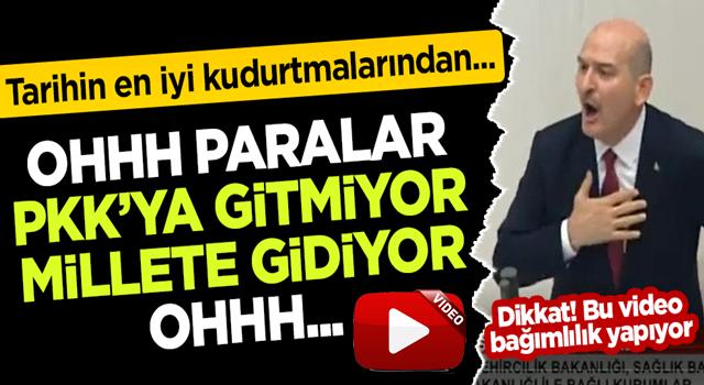 Bakan Soylu'dan HDP'lilere: Oh, paralar PKK'ya gitmiyor millete gidiyor oh!