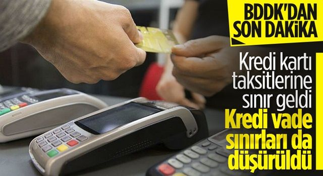 BDDK açıkladı! Kredi kartı taksit sayıları değişti