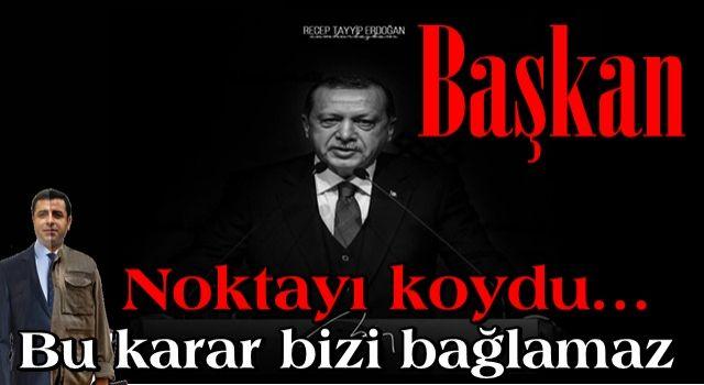 Cumhurbaşkanı Erdoğan'dan Demirtaş ve parti kapatma açıklaması