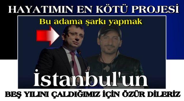 İstanbul'un beş yılını çaldığımız için özür dileriz! E.İ'nin seçim müziğini seslendiren sanatçı Ali Ata pişmanlığını dile getirdi .