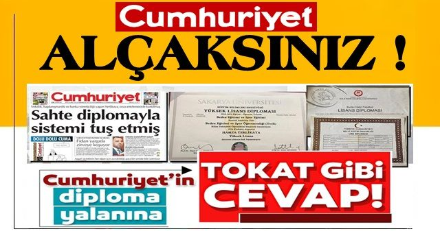 İşte Hamza Yerlikaya'ya atılan 'Diploması Sahte' iftirasını çürüten belgeler!