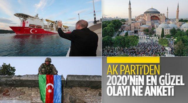 AK Parti'nin 2020'nin en güzel olayı nedir anketi