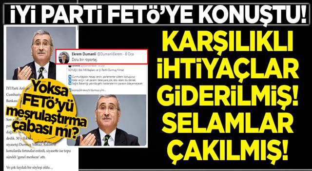 İYİ Partili Durmuş Yılmaz, FETÖ'nün yayın organı Kronos'a konuştu!
