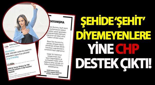 Şehide 'şehit' diyemeyenler ile CHP dayanışması!
