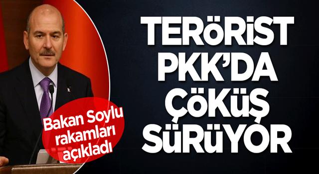 Terörist PKK'nın nasıl dibe vurduğunu Bakan Soylu açıkladı