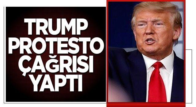 Trump protesto için taraftarlarına çağrı yaptı