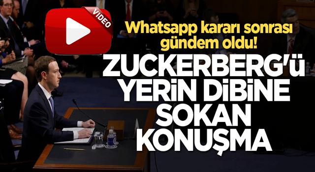 Whatsapp kararı sonrası gündem oldu! Zuckerberg'ü yerin dibine sokan konuşma