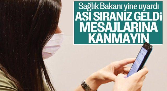 Sağlık Bakanı Fahrettin Koca aşı dolandırıcılığına karşı uyardı