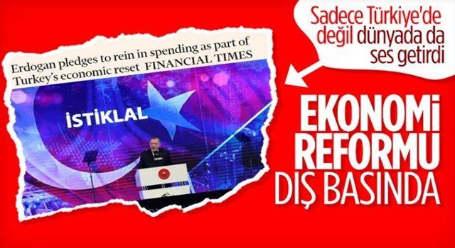 Cumhurbaşkanı Erdoğan'ın açıkladığı Ekonomi Reform Paketi dış basında
