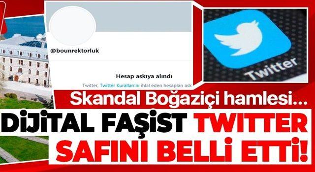 Dijital faşist Twitter safını belli etti! Boğaziçi Üniversitesi Rektörlüğü'ne ait resmi hesap kapatıldı