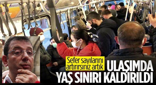 İstanbul'da toplu taşımada yaş sınırı kalktı
