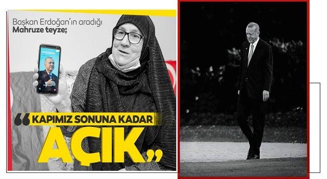 Erdoğan'ın telefonla aradığı Mahruze Keleş: Kapımız size sonuna kadar açık