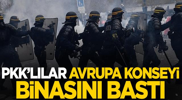 PKK'lılar Avrupa Konseyi binasını bastı!