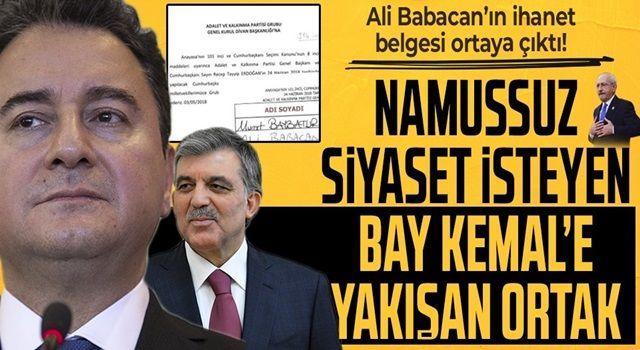 Ali Babacan'ın Başkan Erdoğan'a Cumhurbaşkanı adayı olması için 2. sırada imza verdiği ortaya çıktı