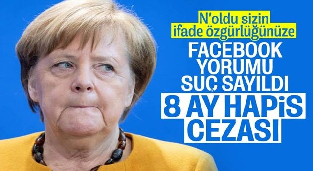 Almanya'da Angela Merkel'e hakaret eden kişiye 8 ay hapis