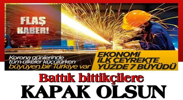Büyüme rakamları açıklandı...Türkiye büyüyor..
