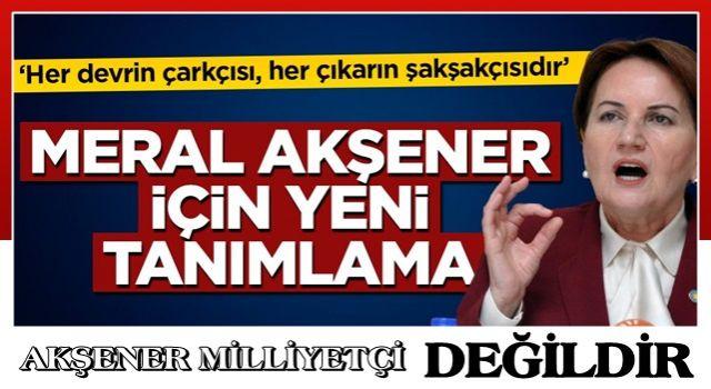 İzzet Ulvi Yönter'dan Akşener'e sert tepki: Her devrin çarkçısı, her çıkarın şakşakçısıdır