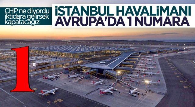 İstanbul Havalimanı, 635 uçuşla Avrupa'nın zirvesinde
