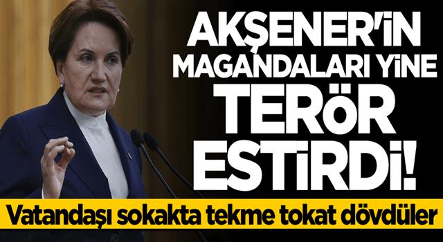 Meral Akşener'e HDP'yi soran vatandaş darp edildi