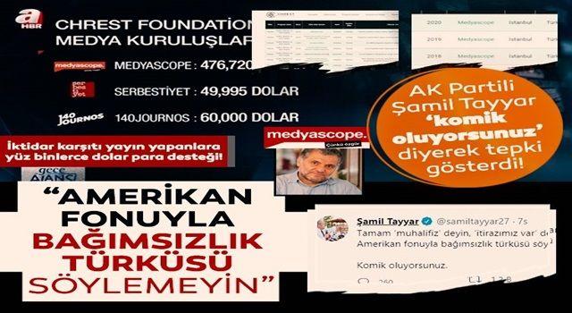 AK Parti MKYK üyesi Şamil Tayyar: Amerikan fonuyla bağımsızlık türküsü söylemeyin, komik oluyorsunuz