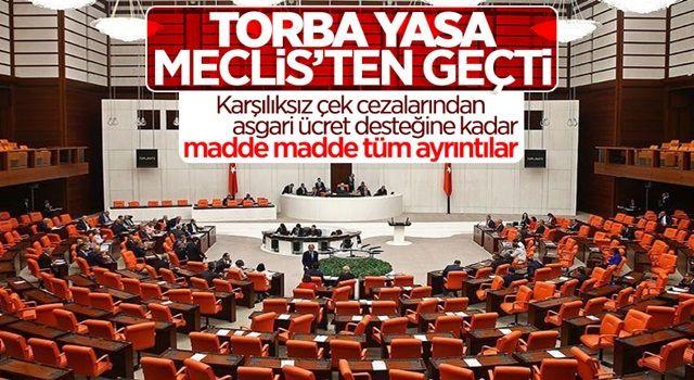 Ekonomiye ilişkin torba yasa TBMM'de kabul edildi