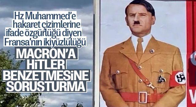 Emmanuel Macron'u Hitler'e benzeten afişlerle soruşturma