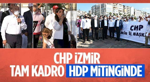 HDP'nin İzmir mitingine CHP İl Başkanlığı tam kadro katıldı