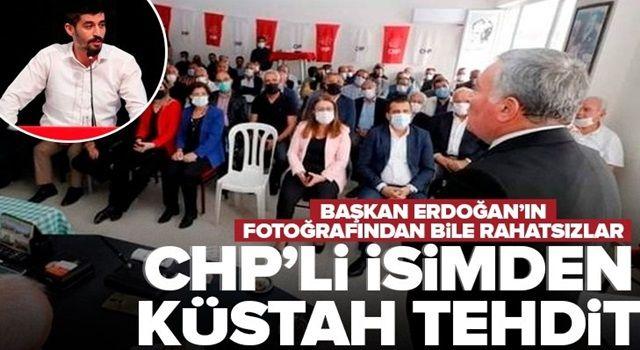 CHP Denizli Gençlik Kolları Başkanı Tugay Odabaşıoğlu'ndan odalarına Başkan Erdoğan'ın fotoğraflarını asanlara densiz tehdit .