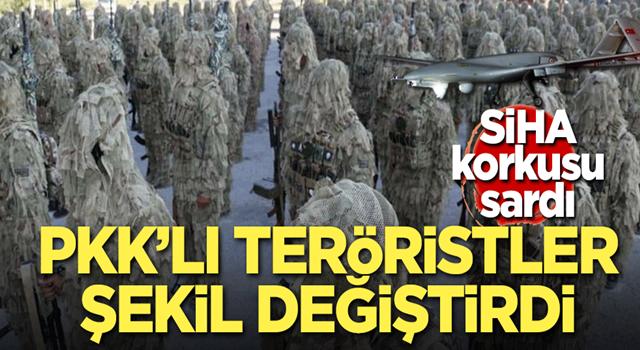 PKK'lı teröristler şekil değiştirdi!