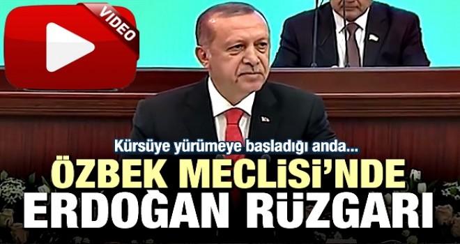 Cumhurbaşkanı Erdoğan'a Özbek Meclisi'nde alkış yağmuru