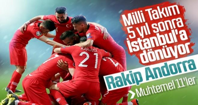 Türkiye-Andorra maçının muhtemel 11'leri