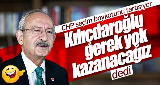 Kemal Kılıçdaroğlu'na seçim boykotu soruldu
