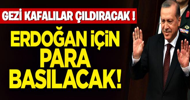 Külliye'deki törene katılan davetlilere Erdoğan için basılan para dağıtılacak